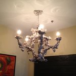 the chandelier in our room