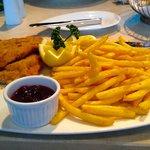 Vienna Schnitzel with cranberry sauce