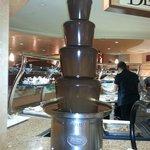 Chocolate Fountain in the Dessert area