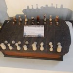 Chess made from fish tooth