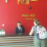 Front desk. Roberto is extremely helpful, friendly, and speaks excellent English.