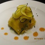 black cod with  daikon pickle and mango