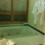 Spa tub and robes