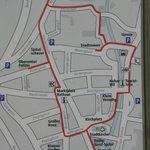 Town walking map