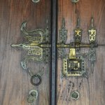 Ornate door lock