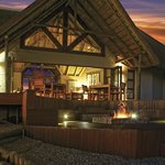 Boma  area and Lounge by night