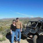 Me, my Beau (aka husband for 34-years) and Charlie the Tomcar