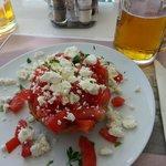 Melhor bruschetta em Mykonos fica no Katerina's Bar & Restaurant