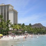 Hotel with diamond head in background