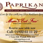 Mothers Day Special ***Mum's Eat for Free***