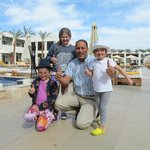 Our wonderful Restaurant manager Tarek & the kids