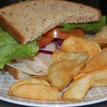 Lunch... turkey sandwich with freshly made chips