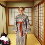 A Yukata that you find in the room to enjoy it