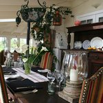Dine in style in our sunny conservatory area