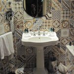 Sink in bathroom.