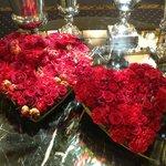 Alltid vackra blomsterarrangemang i lobbyn