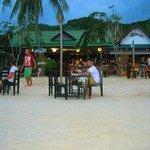 Sandy Bay Resort restaurant at night
