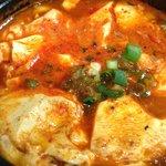 seafood & tofu soup
