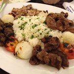 Half pita/Half butter rice plate. -Taken with an Apple iPhone 5