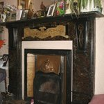 Original slate and copper fireplace, no. 13 Kings Road.