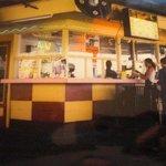 Retro A&W drive-in restaurant