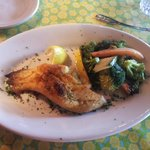 Stuffed flounder at the Tidewater Grill in Charleston WV