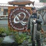 15lb hatchery steelhead caught on the Quatse River