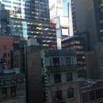View from window along the side of the room (Times Square)
