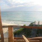 Vista a la playa desde el balcón