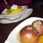 mango ice cream and gulab jamun