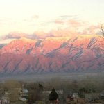 The views of the Sandia Mountains from our portal is always changing