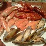 Crayfish, Crab Legs, Mussels, Prawns