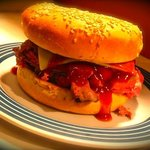 Classic Roast Beef with Cheese and James River BBQ Sauce