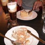 Apple pie and greek coffe