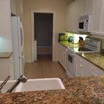 View of kitchen area rm 260 - w&d thru door