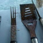 Common area RUSTED bbq tools