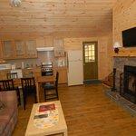 Cottage #1 living room/kitchen