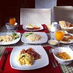 Huge and yummy breakfast