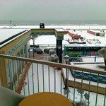 vista mare dal balcone della camera