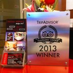 We a proud winner of 2013 travellers choise!