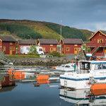 Sjøhus og restauranthus ved havna