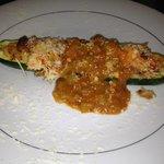 Lobster Pirougue stuffed Zuchinni