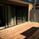Both Guest Rooms lead out onto Decked Patio