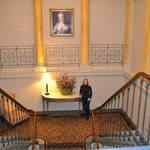 escaliers vers les chambres
