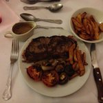 Steak diane with chips! Lush!!