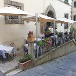 Our outdoor dining area in the heart of Cortona