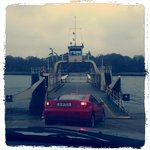 Ferry crossing to the island