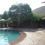 One of the swimming pool areas