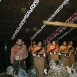 Traditional entertainment in the Marae