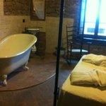 vasca d'epoca  in camera